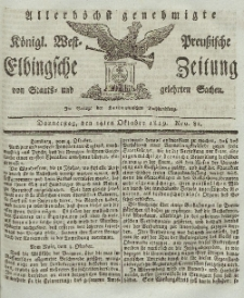 Elbingsche Zeitung, No. 82 Donnerstag, 14 Oktober 1819
