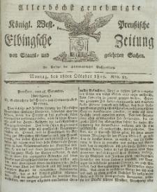 Elbingsche Zeitung, No. 83 Montag, 18 Oktober 1819