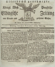 Elbingsche Zeitung, No. 89 Montag, 8 November 1819