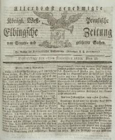 Elbingsche Zeitung, No. 92 Donnerstag, 18 November 1819
