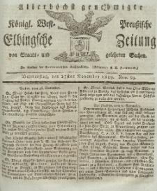 Elbingsche Zeitung, No. 94 Donnerstag, 25 November 1819