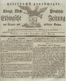 Elbingsche Zeitung, No. 95 Montag, 29 November 1819