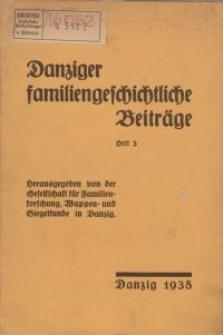 Danziger familiengeschichtliche Beiträge, H. 3