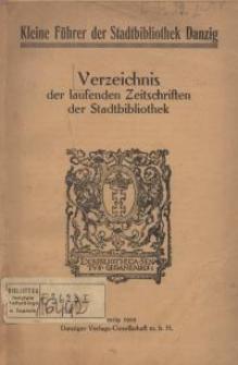Verzeichnis der laufenden Zeitschriften der Stadtbibliothek