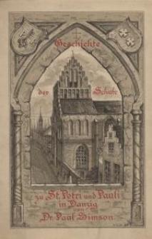 Geschichte der Schule zu St. Petri Pauli in Danzig : Teil 1-2