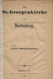Die St. Georgenkirche zu Rastenburg