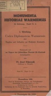 Codex Diplomaticus Warmiensis oder Regesten und Urkunden zur Geschichte Ermlands. Bd 4, 23 – 30