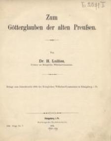 Zum Götterglauben der alten Preußen