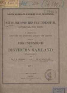 Urkundenbuch des Bisthums Samland : Heft 2