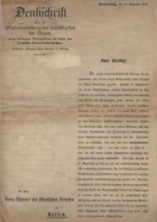 Denkschrift über die Wiederherstellung der Schiffbarkeit der Nogat, eines wichtigen Bindegliedes im Netze der deutschen...