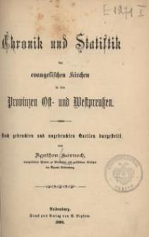 Chronik und Statistik der evangelischen Kirchen in den Provinzen Ost- und Westpreussen