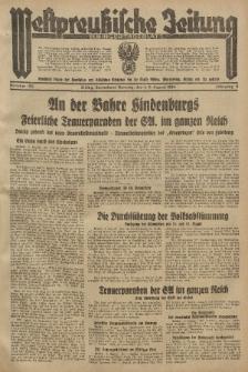 Westpreussische Zeitung, Nr. 180 Sonnabend/Sonntag 4/5 August 1934, 11. Jahrgang