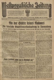 Westpreussische Zeitung, Nr. 183 Mittwoch 8 August 1934, 11. Jahrgang