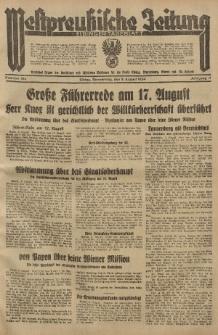 Westpreussische Zeitung, Nr. 184 Donnerstag 9 August 1934, 11. Jahrgang