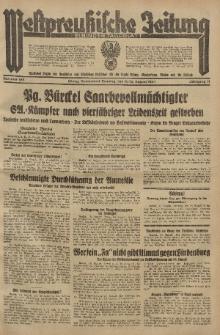 Westpreussische Zeitung, Nr. 186 Sonnabend/Sonntag 11/12 August 1934, 11. Jahrgang