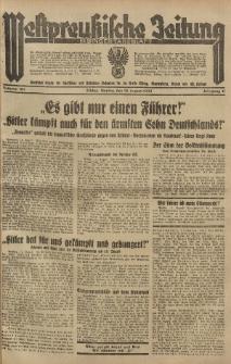 Westpreussische Zeitung, Nr. 187 Montag 13 August 1934, 11. Jahrgang