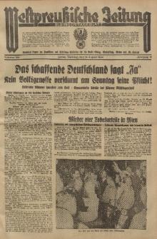 Westpreussische Zeitung, Nr. 188 Dienstag 14 August 1934, 11. Jahrgang