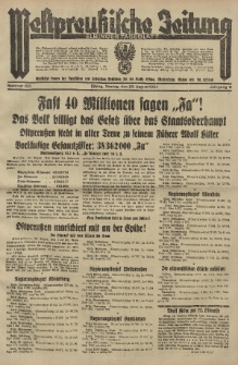 Westpreussische Zeitung, Nr. 193 Montag 20 August 1934, 11. Jahrgang