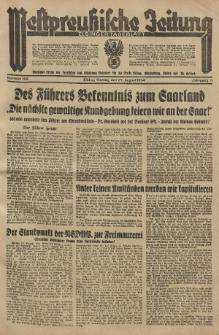 Westpreussische Zeitung, Nr. 199 Montag 27 August 1934, 11. Jahrgang