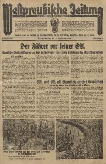 Westpreussische Zeitung, Nr. 211 Montag 10 September 1934, 11. Jahrgang