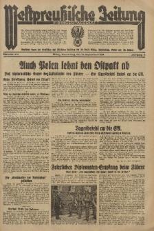 Westpreussische Zeitung, Nr. 214 Donnerstag 13 September 1934, 11. Jahrgang