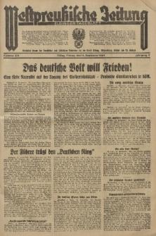Westpreussische Zeitung, Nr. 215 Freitag 14 September 1934, 11. Jahrgang