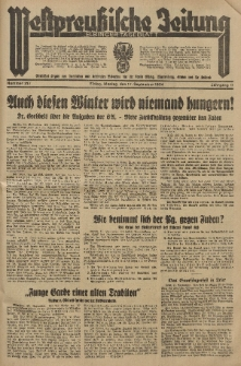 Westpreussische Zeitung, Nr. 217 Montag 17 September 1934, 11. Jahrgang