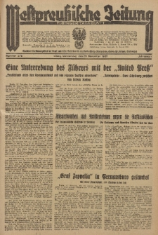 Westpreussische Zeitung, Nr. 278 Donnerstag 28 1935, 12. Jahrgang