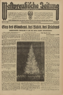 Westpreussische Zeitung, Nr. 300 Dienstag 24 December 1935, 12. Jahrgang