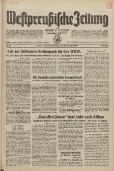Westpreussische Zeitung, Nr. 89 Sonnabend/Sonntag 17/18 April 1937, 6. Jahrgang