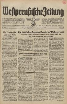 Westpreussische Zeitung, Nr.100 Freitag/Sonnabend 30 Apri/1 Mail 1937, 6. Jahrgang