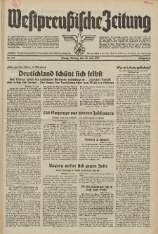 Westpreussische Zeitung, Nr. 147 Montag 28 Juni 1937, 6. Jahrgang
