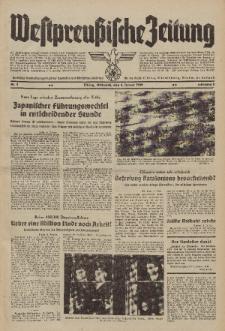 Westpreussische Zeitung, Nr. 3 Mittwoch 4 Januar 1939, 8. Jahrgang