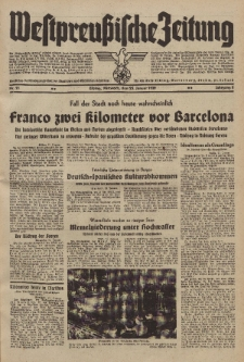 Westpreussische Zeitung, Nr. 21 Mittwoch 25 Januar 1939, 8. Jahrgang