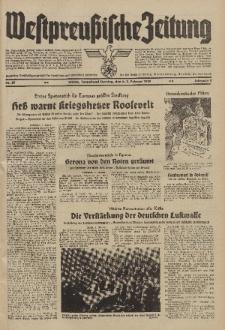 Westpreussische Zeitung, Nr. 30 Sonnabend/Sonntag 4/5 Februar 1939, 8. Jahrgang