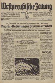 Westpreussische Zeitung, Nr. 34 Donnerstag 9 Februar 1939, 8. Jahrgang