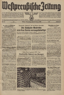 Westpreussische Zeitung, Nr. 46 Donnerstag 23 Februar 1939, 8. Jahrgang