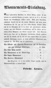 Abonnements-Einladung (27.VIII.1854)