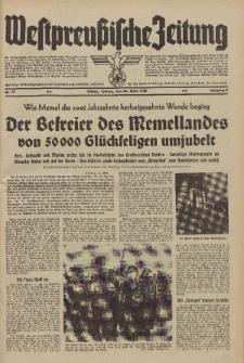 Westpreussische Zeitung, Nr. 71 Freitag 24 März 1939, 8. Jahrgang