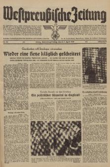 Westpreussische Zeitung, Nr. 82 Donnerstag/Freitag 6/7 April 1939, 8. Jahrgang