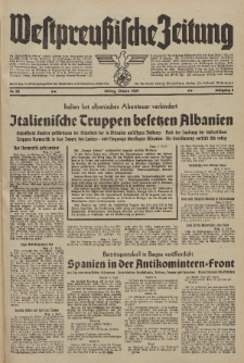Westpreussische Zeitung, Nr. 83 Ostern (8-10) April 1939, 8. Jahrgang