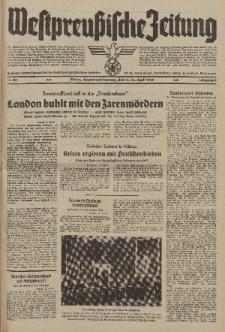 Westpreussische Zeitung, Nr. 88 Sonnabend/Sonntag 15/16 April 1939, 8. Jahrgang