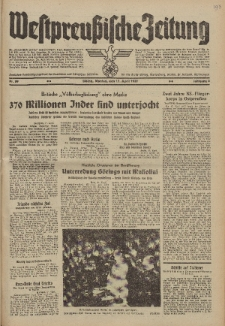 Westpreussische Zeitung, Nr. 89 Montag 17 April 1939, 8. Jahrgang