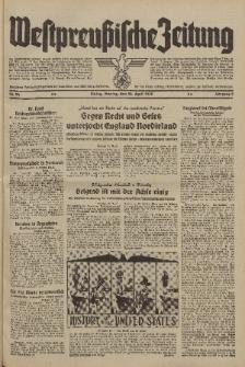 Westpreussische Zeitung, Nr. 94 Montag 24 April 1939, 8. Jahrgang