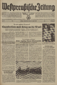 Westpreussische Zeitung, Nr. 97 Donnerstag 27 April 1939, 8. Jahrgang