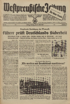Westpreussische Zeitung, Nr. 111 Montag 15 Mai 1939, 8. Jahrgang
