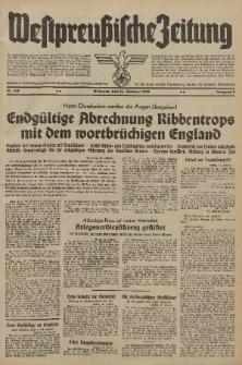 Westpreussische Zeitung, Nr. 249 Mittwoch 25 Oktober 1939, 8. Jahrgang