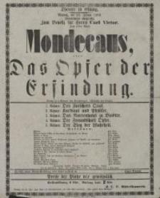 Mondecaus, oder: Das Opfer der Erfindung - Albert Emil Brachvogel