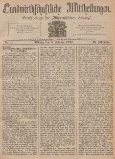 Landwirthschaftliche Mittheilungen, Nr 6, 8. Februar, 6 Jahrgang