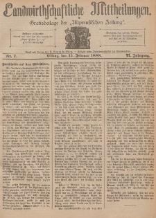 Landwirthschaftliche Mittheilungen, Nr 7, 15. Februar, 6 Jahrgang